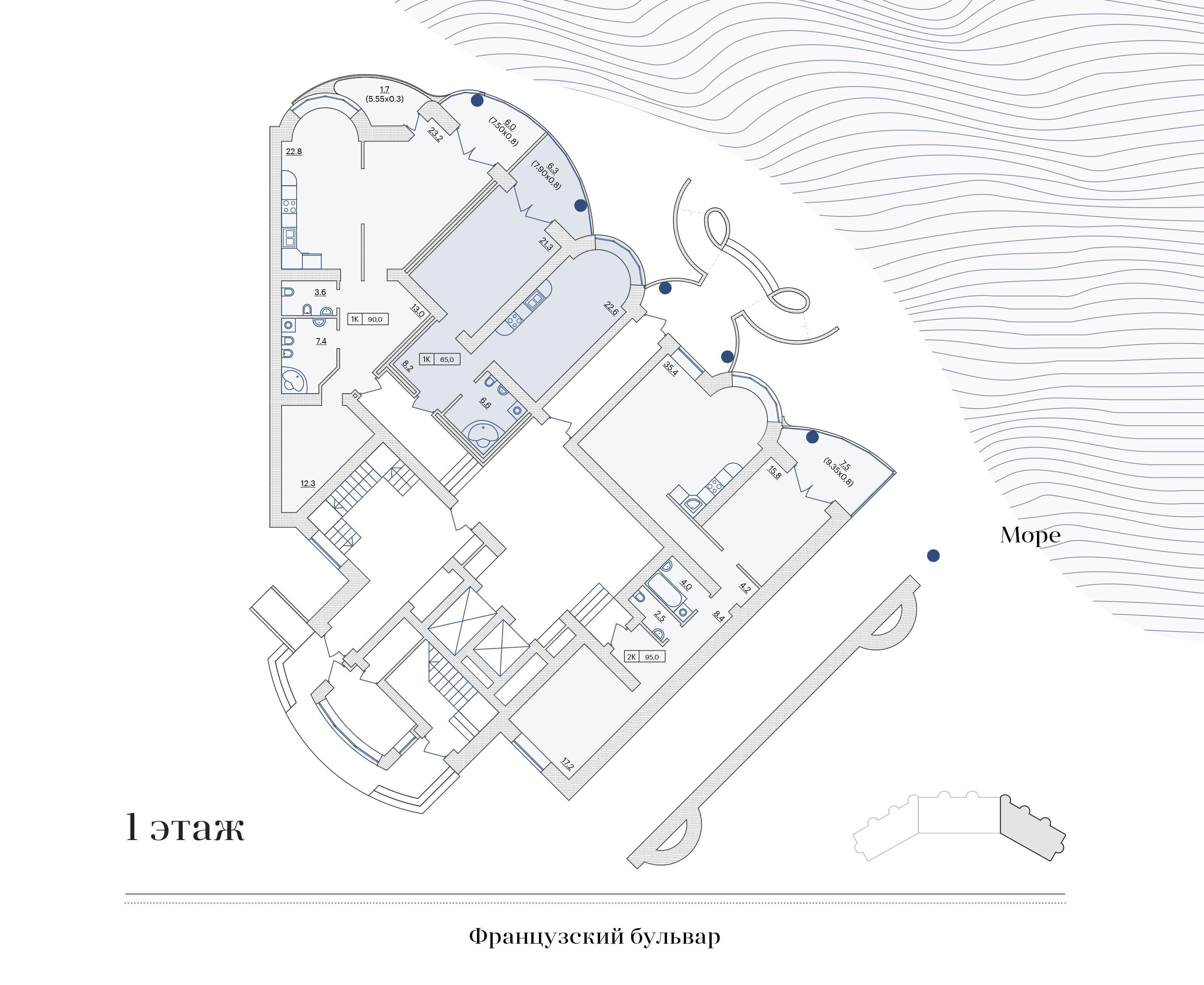 Юбилейный Дом Каркашадзе - Французский бульвар 29