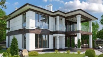 Новый двухэтажный дом в элитном котеджном поселке